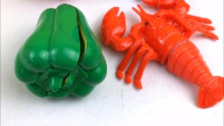 今天一起来切菜椒和龙虾