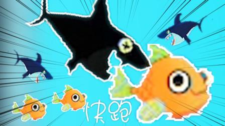 保护小金鱼:下雨快跑,鲨鱼群来了!!!