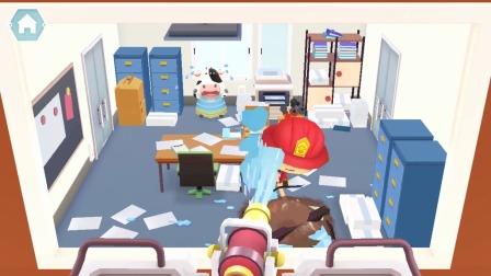 熊猫消防队:房间里着火了!
