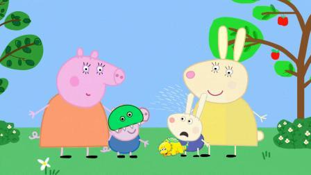 乔治戴着恐龙面具吓哭了理查德,猪妈妈教导不能吓唬人