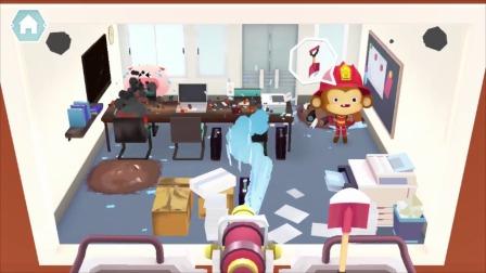 熊猫消防队:小猴子需要帮助!