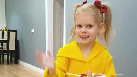 萌娃小可爱:小萝莉教大家怎么刷牙