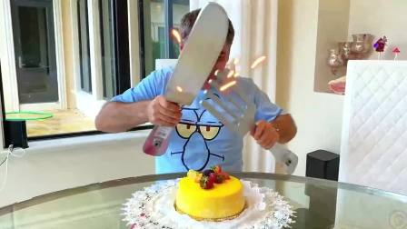萌宝小可爱:小萝莉把爸爸的蛋糕变成了史莱姆