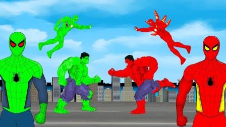红铁人VS蓝绿巨人