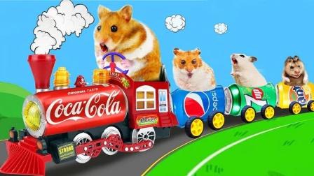 仓鼠建筑师,易拉罐制作小火车,真是厉害