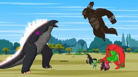 哥斯拉:疯狂科学家与哥斯拉攻击蜘蛛绿巨人