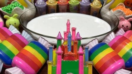 把彩虹糖果城堡等35种材料混泥,无硼砂超惊艳