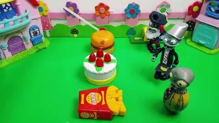 汉堡蛋糕薯条变身机器人,把僵尸吓跑了!