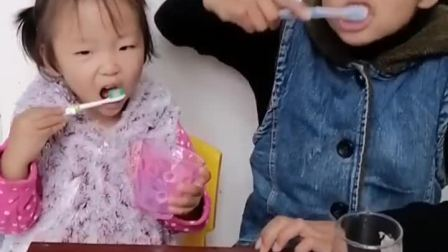 童年趣事:刷个牙这么有节奏