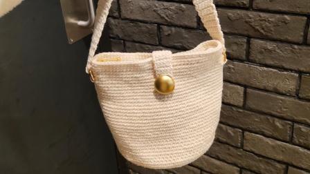 【芸妈手作 A188】复古水桶包 钩针手工diy编织包包毛线挎包