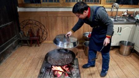 今年没有养猪,老爸想办法也要做这道菜,最没卖相但是最有味道