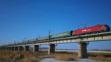 Z113次  海口—哈尔滨西  HXD3D  0001  沈局沈段  锦州小凌河通过