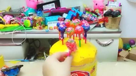 童年趣事:棒棒糖给宝贝偷吃了,哈哈