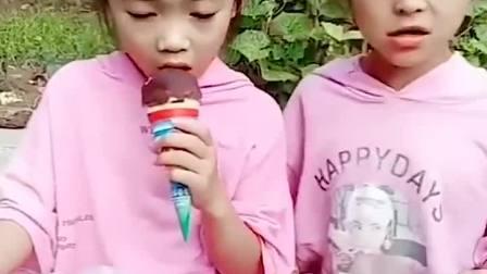 亲子游戏:小宝贝有好吃的冰淇淋