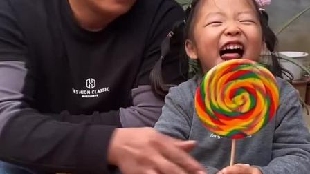 童年趣事:这么大的彩虹糖