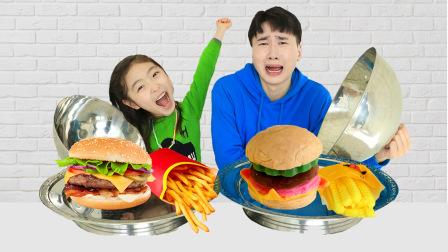 【儿童玩具】超神奇的汉堡包创意香皂!香皂VS食物大挑战!