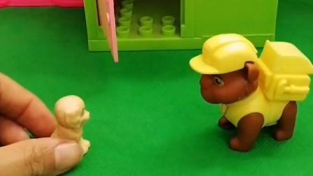 怪兽要去小砾家了,他想破坏小砾的房子,怪兽这样是不对的
