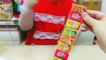 童年趣事:大大泡泡糖,小朋友快来尝尝