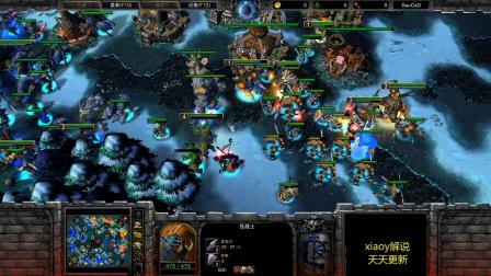 4v4又有魔兽新地图 魔兽争霸xiaoy解说四个种族齐全