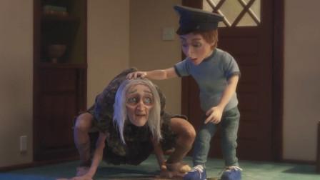 男孩喜欢养狗,而父母却对狗毛过敏,结果竟把痴呆的奶奶牵来代替
