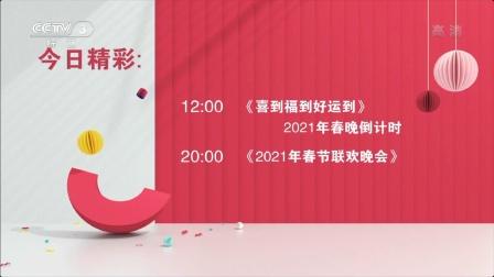 【广播电视】CCTV3综艺频道ID+收视指南+宣传片(2020.02.11)