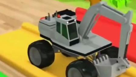 挖掘机视频:卡通汽车