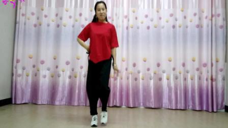 池州天缘广场舞--《红尘花一朵》简单32步--原创