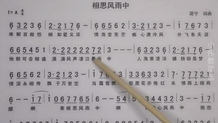 唱谱学习《相思风雨中》老师带你学习深情的经典粤语歌曲