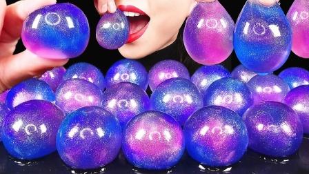 自制星球果冻教程,蓝紫相间如星空般梦幻,满足对星空的幻想