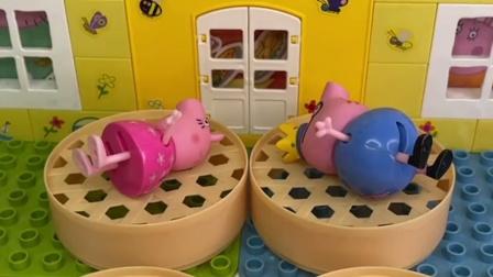 猪爸爸想跟猪妈妈睡,可是猪妈妈不要,猪妈妈只跟佩奇睡