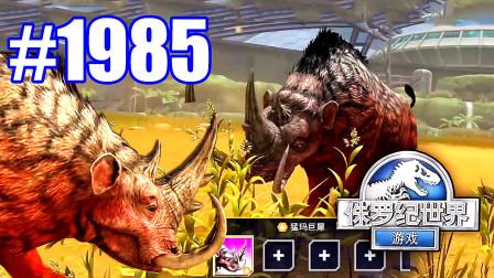 小鸢解说 侏罗纪世界1985神奇生物最强状态,有犀牛角也有象牙