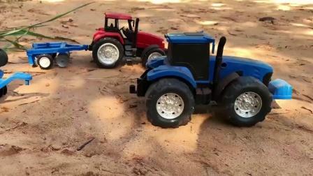 农场拖拉机玩具,小拖车和运输车玩具