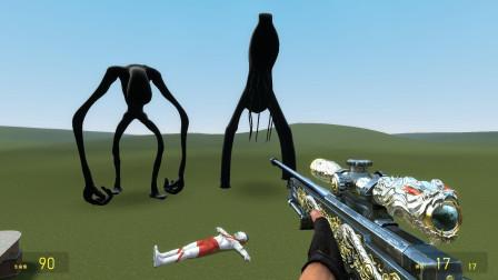 GMOD游戏小黑能打败怪物为初代奥特曼报仇吗?