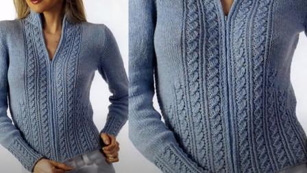 织套头衫或开衫试试这款花样,隔栏扭菱条教程,织围巾帽子也可用
