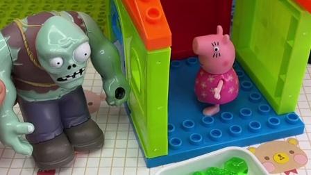 猪奶奶听不清快递员说话,小朋友快来看看,猪奶奶真搞笑