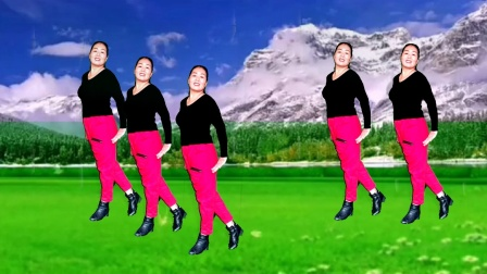 万福泉雪莲广场舞(我爱的姑娘在草原)网红32步正背面演示 附分解