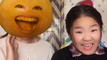 搞笑萌娃:打喷嚏变成橘子人