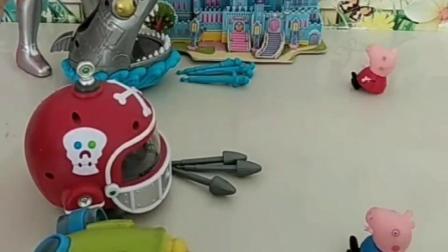 原来玩具都有主人,蜘蛛侠的玉米大炮把乔治打飞了