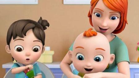 超级宝贝jojo:宝贝和妈妈一起做布丁,好香啊