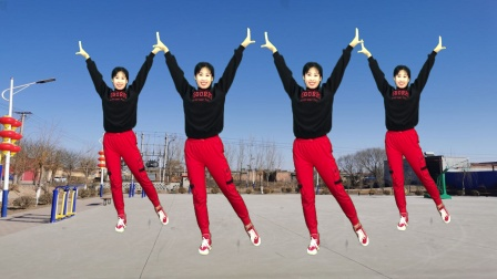 健身操《姑娘等我在天桥》32步好看,跳出健康好身材