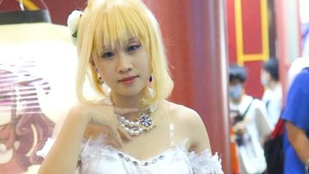Fate 漫展Cosplay Saber婚纱 萤火虫24th