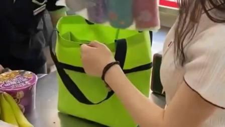 去超市别买购物袋了,用这个购物袋