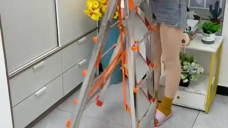 多功能折叠晾衣梯子,衣服被子也有地方晾