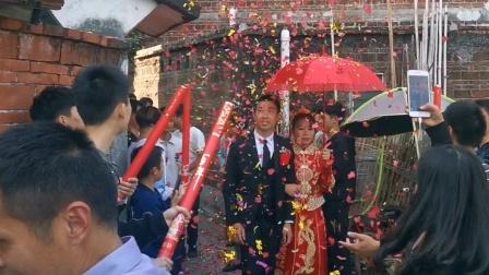 广东农村结婚摆喜酒,特殊时期一切从简,但传统习俗却一样不能少