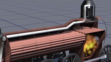 蒸汽火车头内遍布管道,怪不得烧怎么多的煤,还跑的还是很慢!