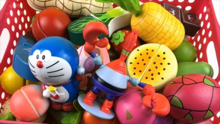 哆啦A梦水果切切乐 蟹老板切水果