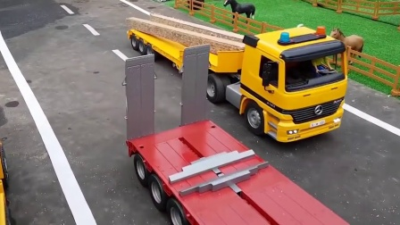 大卡车运输四驱自行车