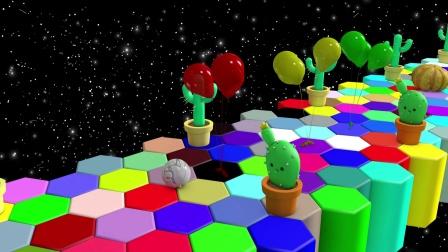 保龄球穿越彩虹桥 识水果和蔬菜 玩具梦工厂
