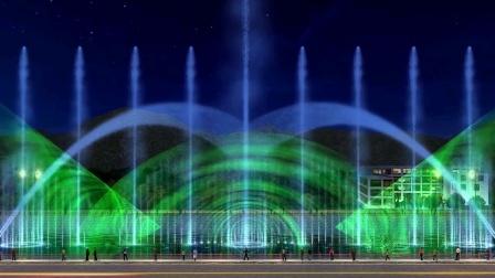 稻城光影水秀 照明设计 夜游策划 灯光动画 喷泉动画