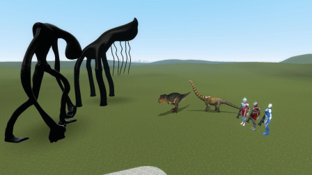 GMOD游戏怪物要攻击恐龙,奥特曼能保护恐龙吗?